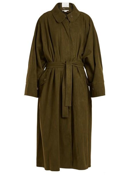 Stella McCartney coat suede khaki