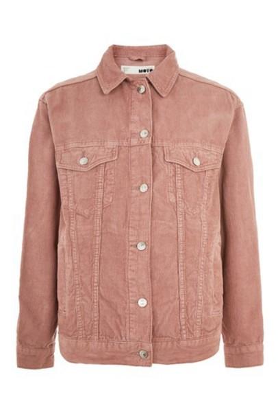 Topshop jacket oversized jacket oversized dark pink