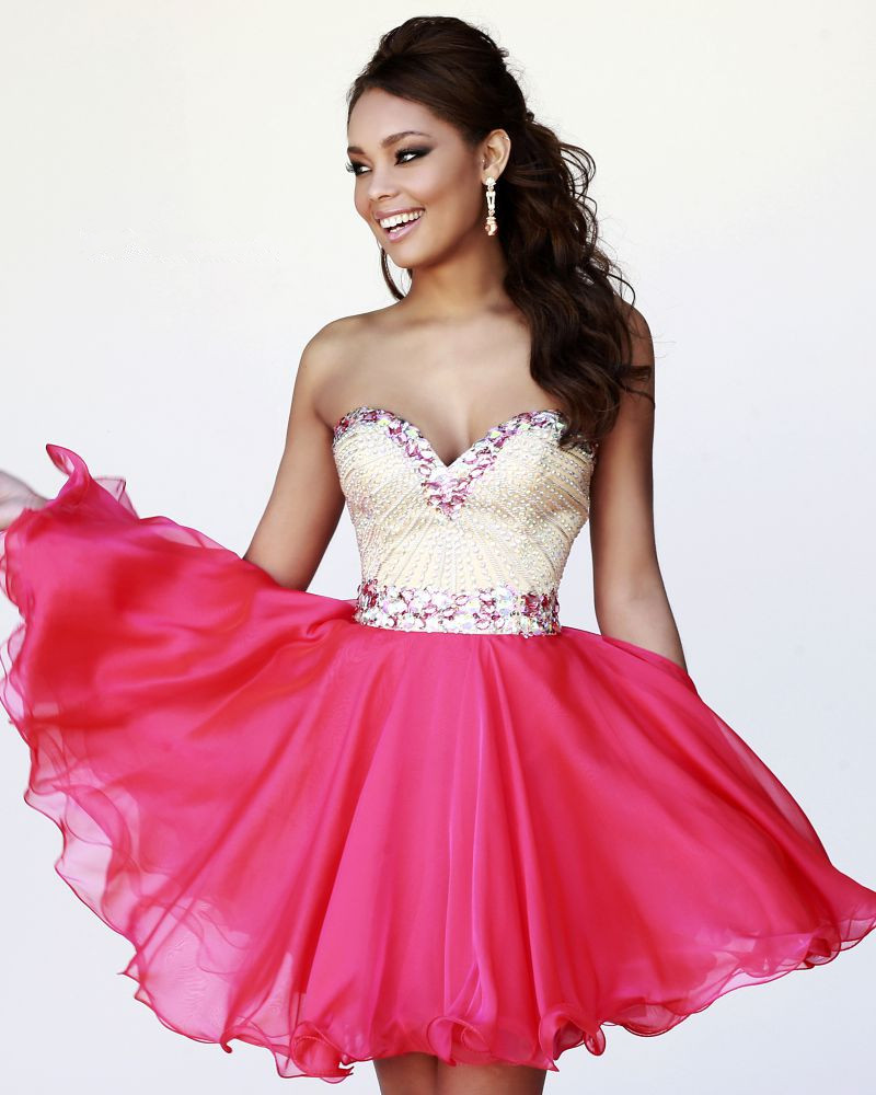 Aliexpress.com : Buy Free Shipping Bling Crystal Bust Sweetheart Neckline Colorful Mini Short Ball Gown Cocktail Party Dress from Reliable gown uk suppliers on Aojia Top Evening Dress