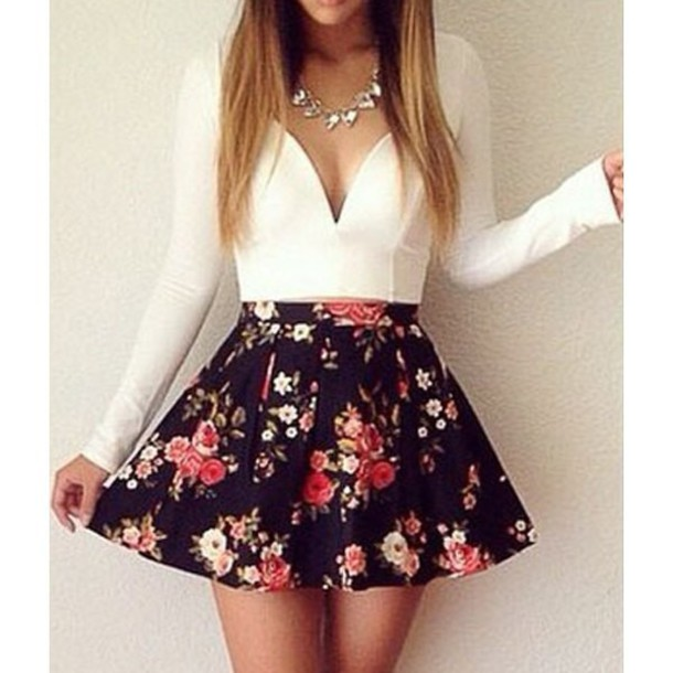 dress floral floral dress floral skirt white dress