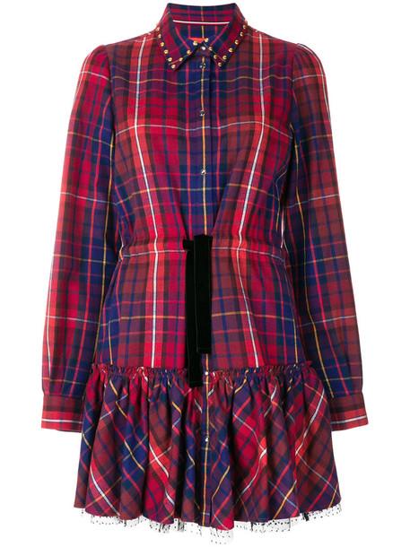 Hilfiger Collection dress shirt dress women cotton red