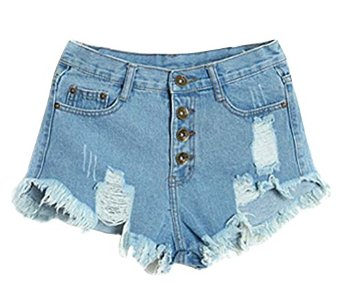 Ghope Women Denim Shorts at Amazon Women's Clothing store: