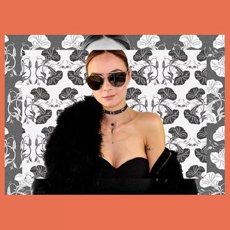sunglasses jewel cult jewelry jewels choker necklace black black choker bling silver choker black crystal necklace silver necklace layered moon moon necklace stars crescent moon accessories accessory sunnies mirrored sunglasses