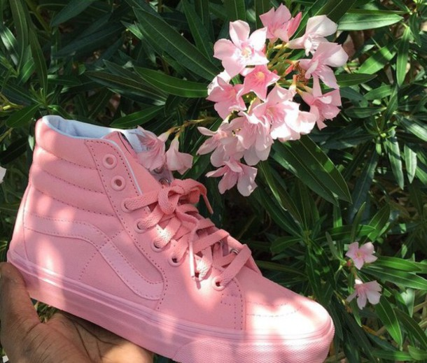 pink high top vans tumblr