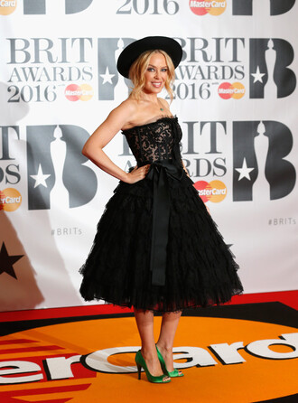 dress prom dress bustier dress kylie minogue pumps brit awards