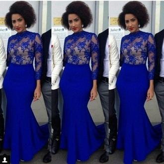 dress royal blue dress