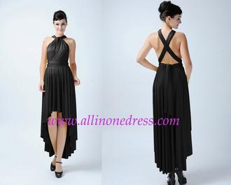 dress black dress high low infinity dress infinity dress bridesmaid convertible dress