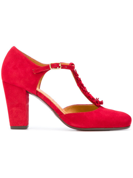 women classic pumps leather red shoes