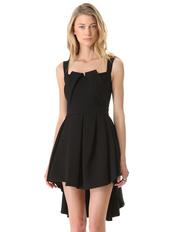 dress,black,casual dress,irregular dress,hem dress,mini dress