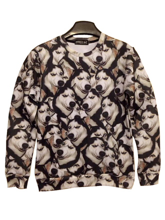 sweater husky fashion style dog funny doge fall outfits winter outfits cozy warm cool swag long sleeves