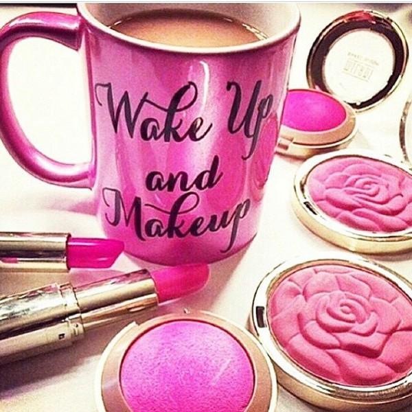 Wake Up And Makeup Coffee Mug, Wake Up And Makeup, Makeup