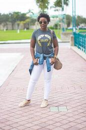 pinksole,blogger,sunglasses,jewels,jacket,t-shirt,jeans,shoes,bag,denim jacket,white jeans,shoulder bag,sneakers,plus size jeans,plus size,curvy