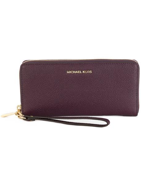 Michael Michael Kors - Travel purse - women - Leather - One Size, Pink/Purple, Leather