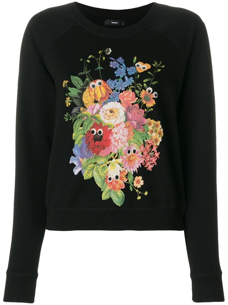 Diesel sweatshirt women cotton black sweater