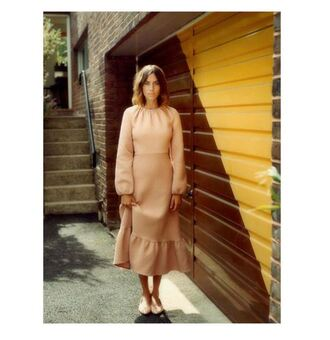 dress maxi dress fall dress alexa chung instagram