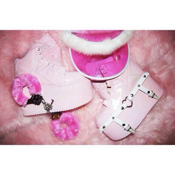 shoes pastel pink shoes