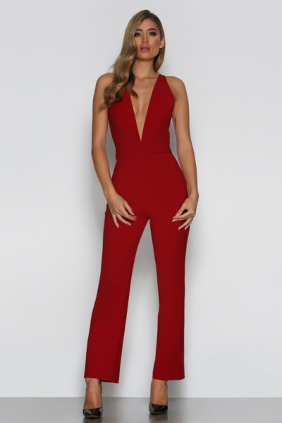Sophie Jumpsuit in Wine