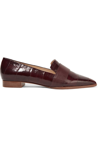 flats leather shoes