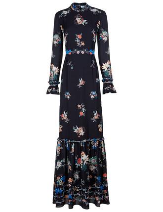 gown floral black dress