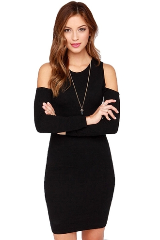dress off the shoulder black dress sweater dress style zaful fall outfits winter outfits