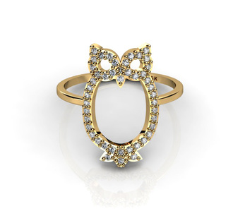 jewels gold ring fashion ring owl owl ring diamonds