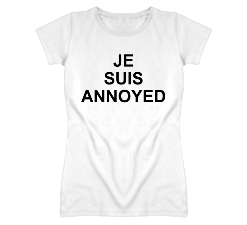 Je Suis Annoyed Funny French Graphic T Shirt