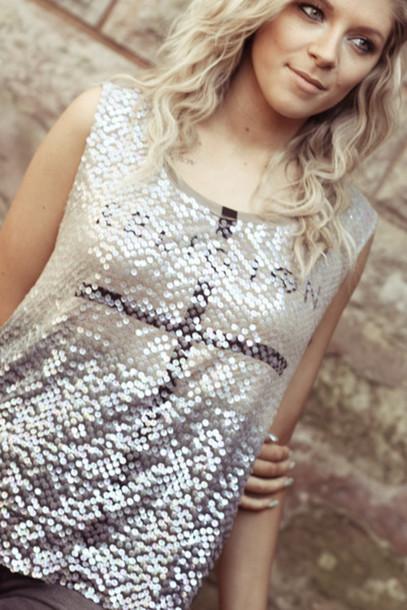 t-shirt sequin top top summer religion