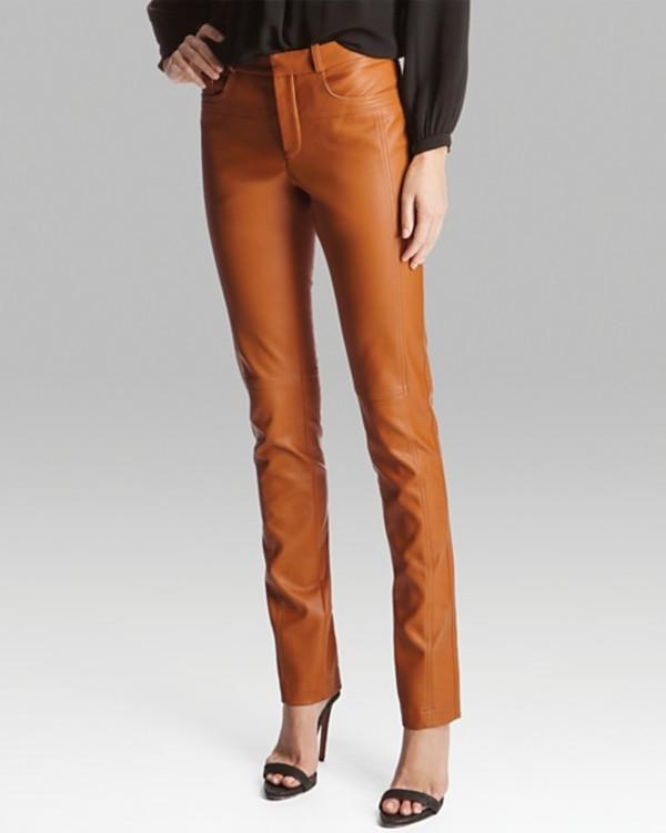 pants halston heritage pants leather skinny sienna halston heritage