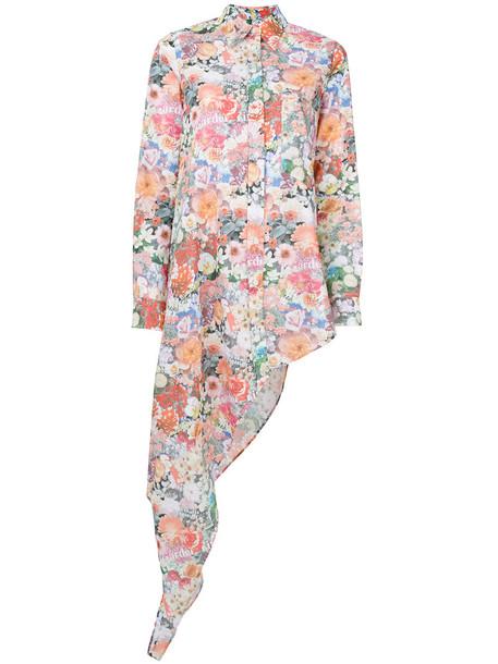 Mm6 Maison Margiela shirt women draped floral cotton print top