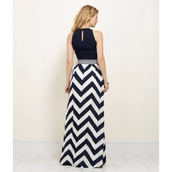 skirt,chevron,chiffon,maxi skirt,chevron dresses