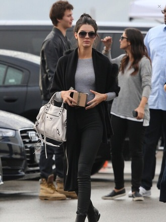 cardigan kendall jenner bag jeans top