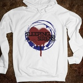 jacket,sleeping with sirens,black and white sweatshirt,meangirls,sweater