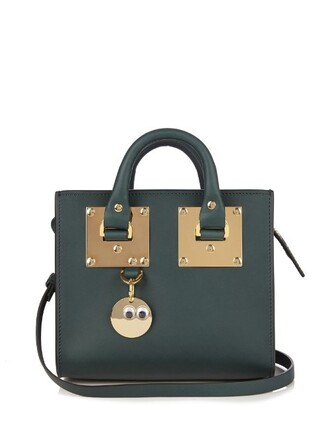 cross mini bag leather dark green