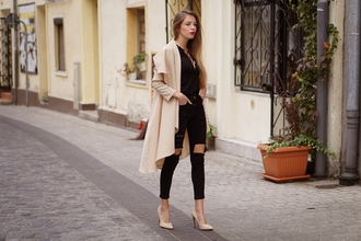 pivonia blogger blouse pants coat shoes
