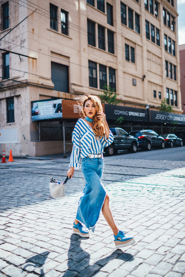 not jess fashion blogger top skirt shoes bag belt