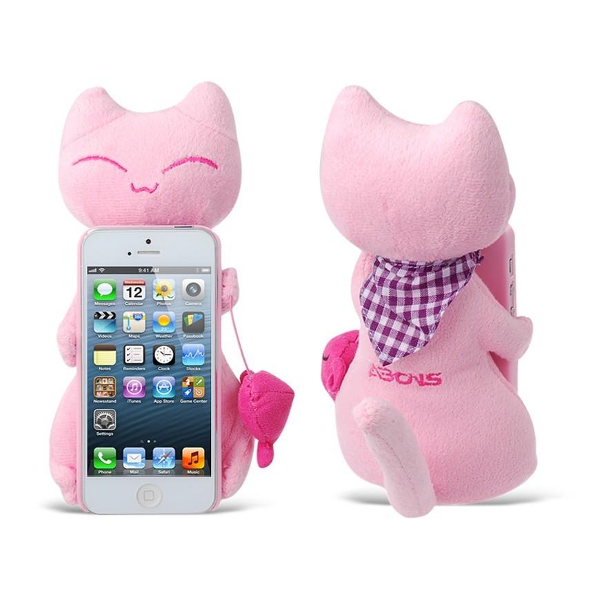 3D Plush Cat Design Plastic Case for iPhone 5 (Pink) Sale in iPhone 5 Accessories UK|Accessories&Cases Store.