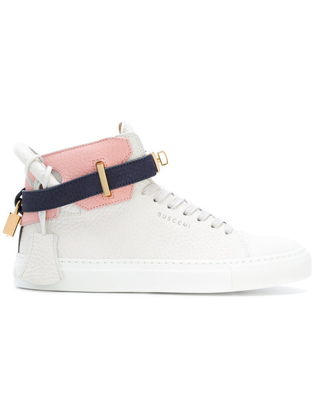 Buscemi women sneakers leather white shoes