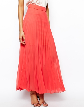 Lipsy | Lipsy Pleated Maxi Skirt at ASOS