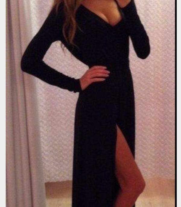 dress long sleeve dress maxi