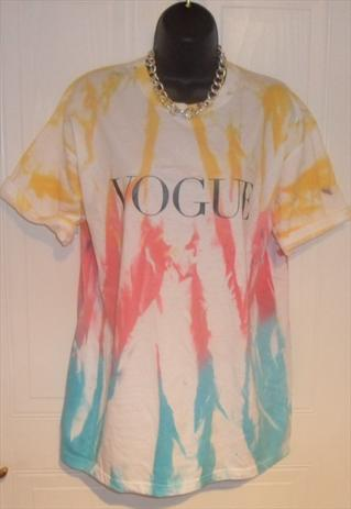 unisex customised vogue grunge acid wash tie dye t shirt L | mysticclothing | ASOS Marketplace