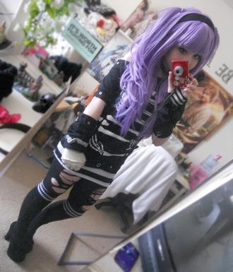 hat pastel pastelgoth pastelgrunge wig purple lilac lavender hair beautiful cute kawaii