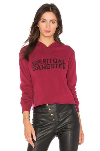 hoodie varsity red sweater