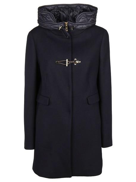 FAY coat duffle coat classic blue