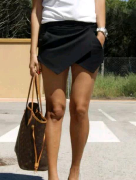 skirt black cool cute short