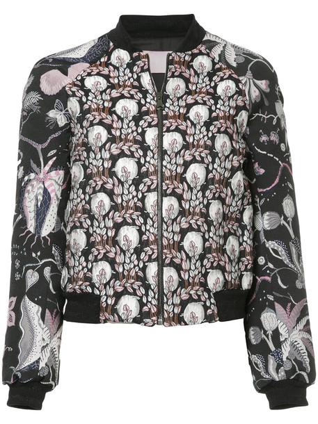 Giamba jacket bomber jacket women jacquard black