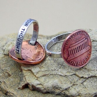 jewels penny ring silver copper