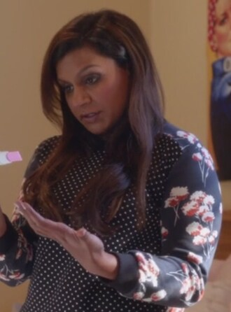 sweater pullover the mindy project mindy kaling mindy lahiri cotton print