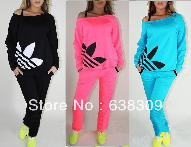 2014 autumn wear new style girl's sport clothes shampooers set shampooer suit women's sports sets jogging tracksuit clothing-in Women from Apparel & Accessories on Aliexpress.com