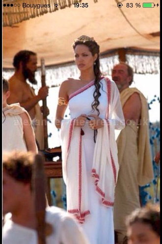 greek grecian grecian dress white dress angelina jolie angelina jolie alexander summer dress
