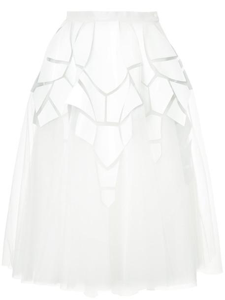 Isabel Sanchis skirt midi skirt women midi white
